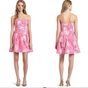 Lilly Pulitzer Pink blossom Strapless